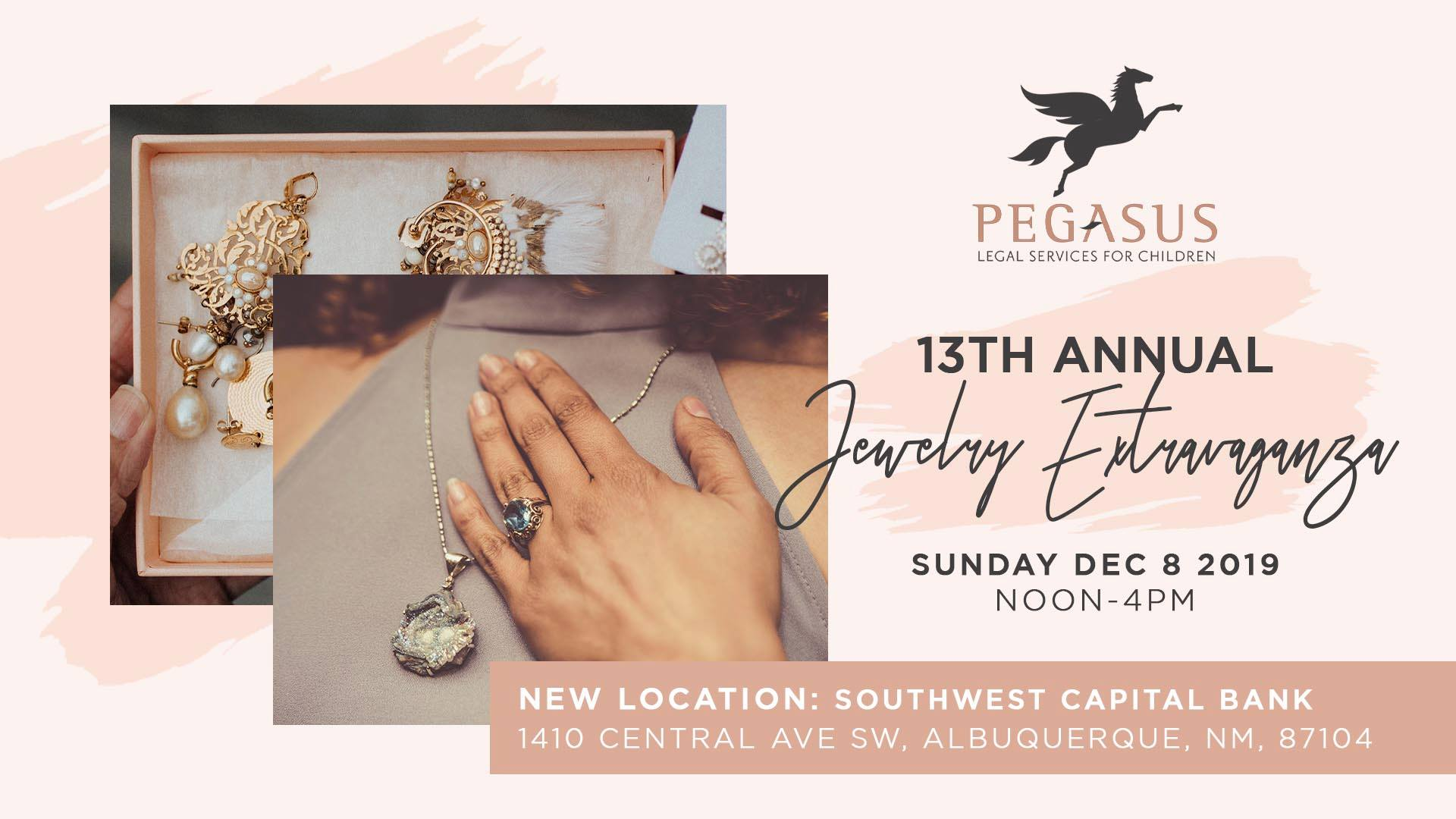 13th Annual Jewelry Extravaganza- Sunday December 8th at Southwest Capital Bank!